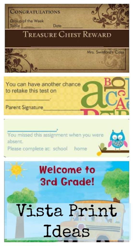 Vista Print for Teachers