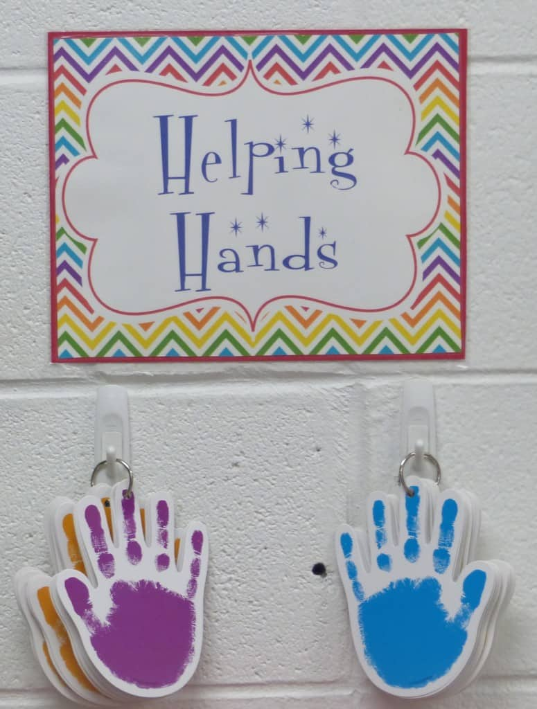 classroom jobs helping hands