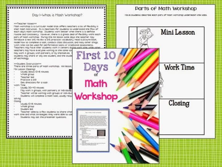 first 10 days of math workshop