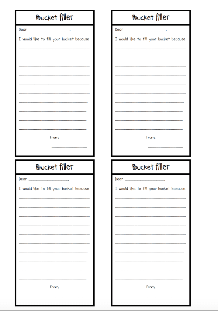 Outstanding Bucket Filler Template Image Collection - Example Resume ...