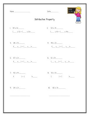 math distributive property