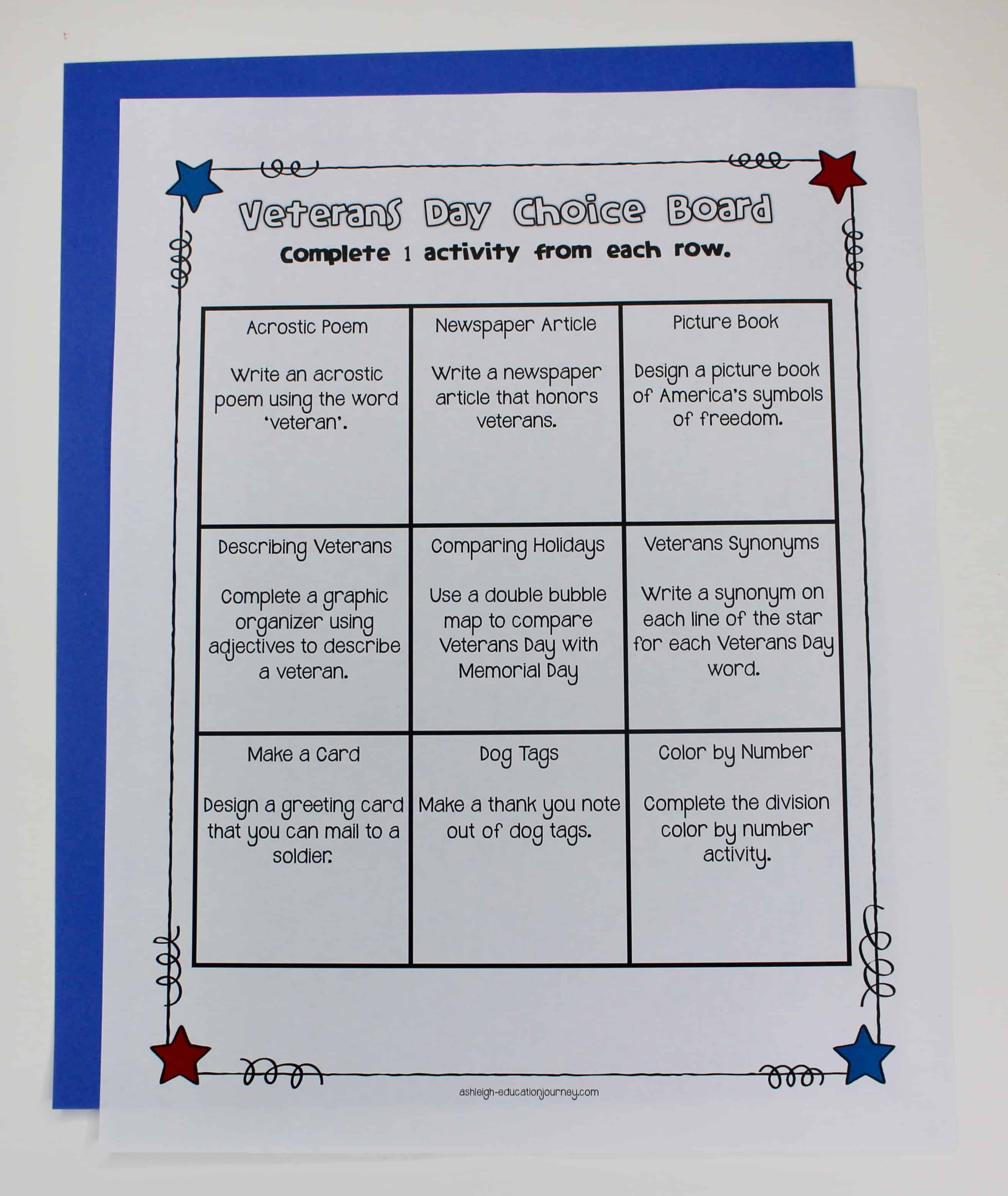 Looking for a way to help your upper elementary students to better understand Veterans Day and why we celebrate it? This blog post shares a variety of activities that help teach students about this holiday, all stemming from a Veterans Day choice board activity. Click through to check out these resources for 3rd grade, 4th grade, and 5th grade classrooms!