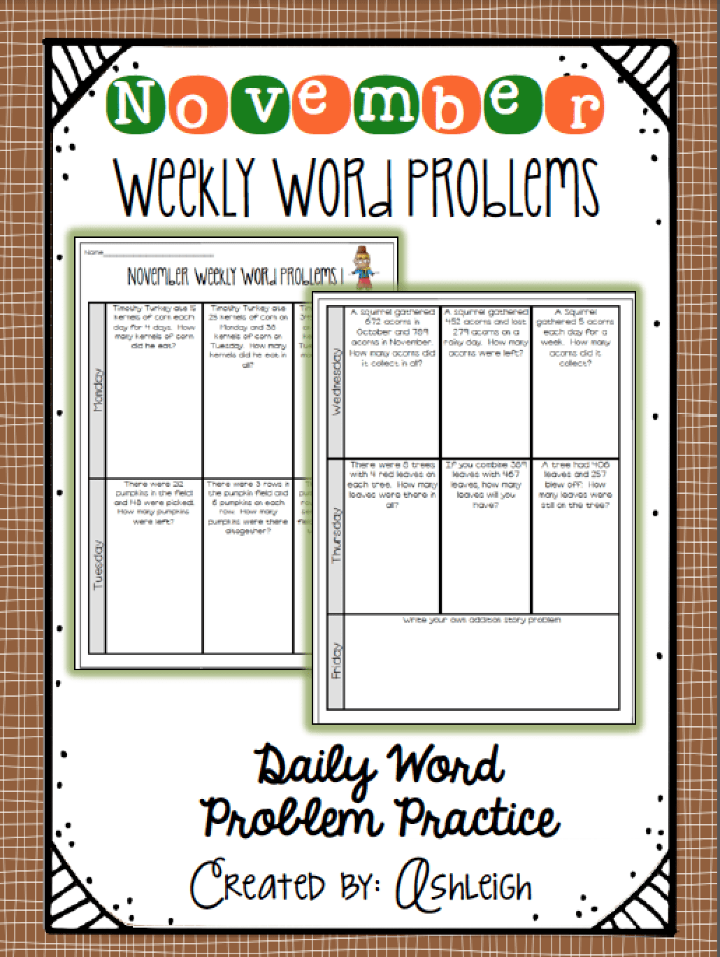 weekly word problems