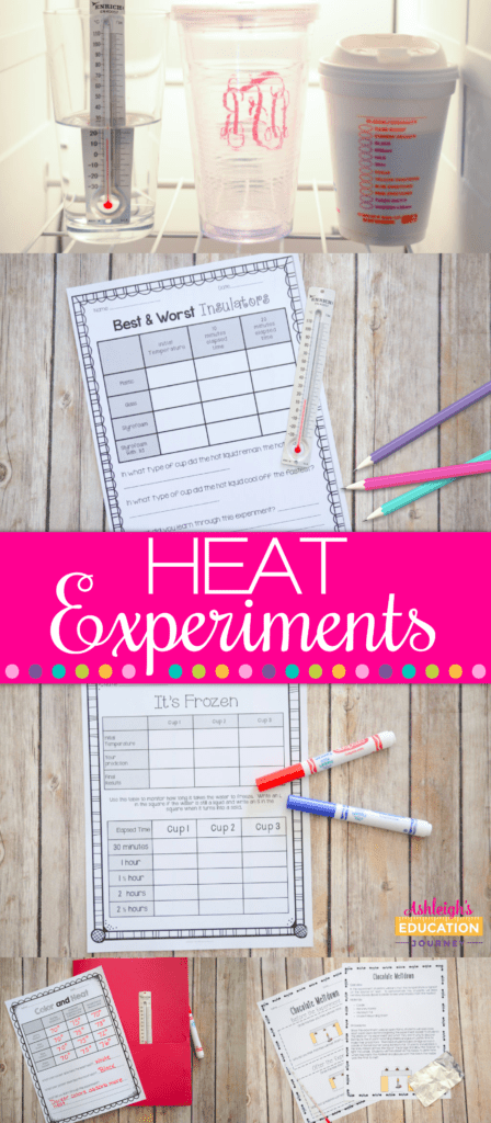 Science experiments are such a fun activity in the upper elementary classroom. This blog post shares information about heat experiments that I did with my class, including lots of photographs documenting the activity. Click through to read the full blog post for 3rd grade, 4th grade, and 5th grade science or STEM teachers!