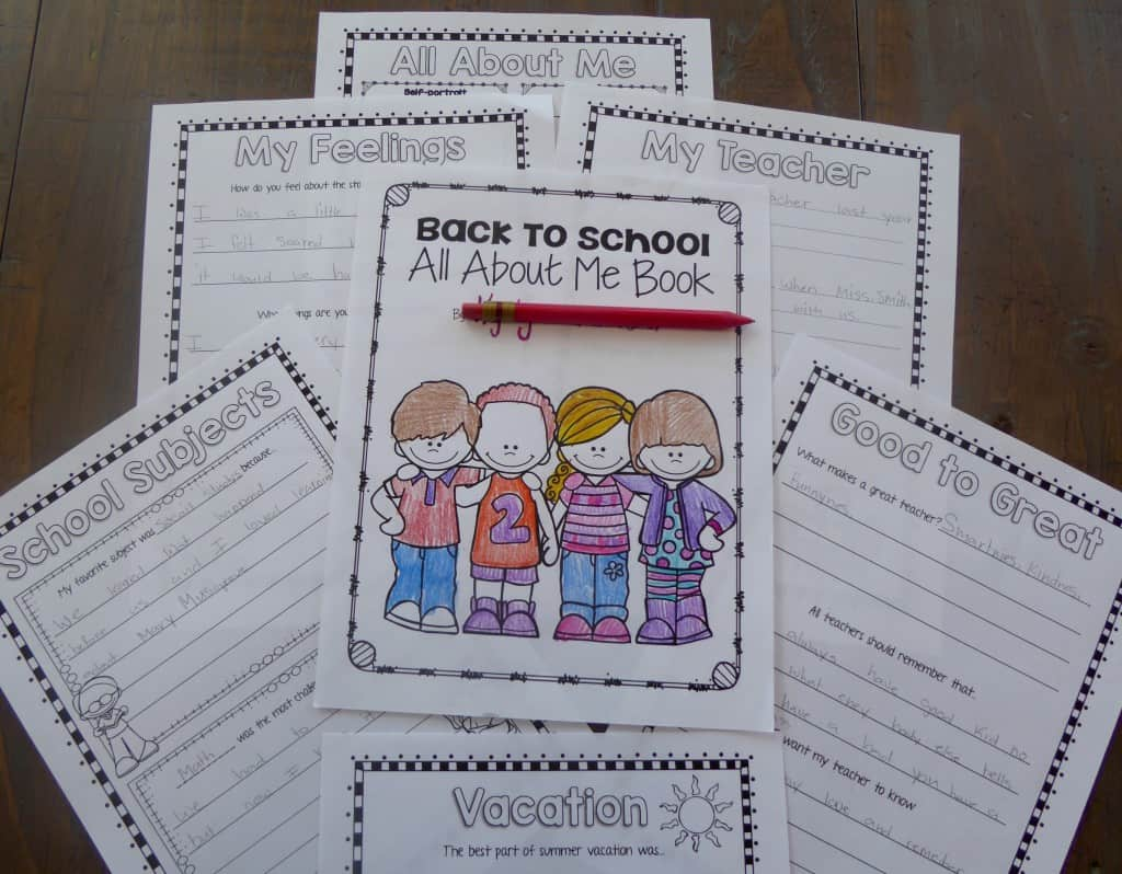 Back to School Book All About Me
