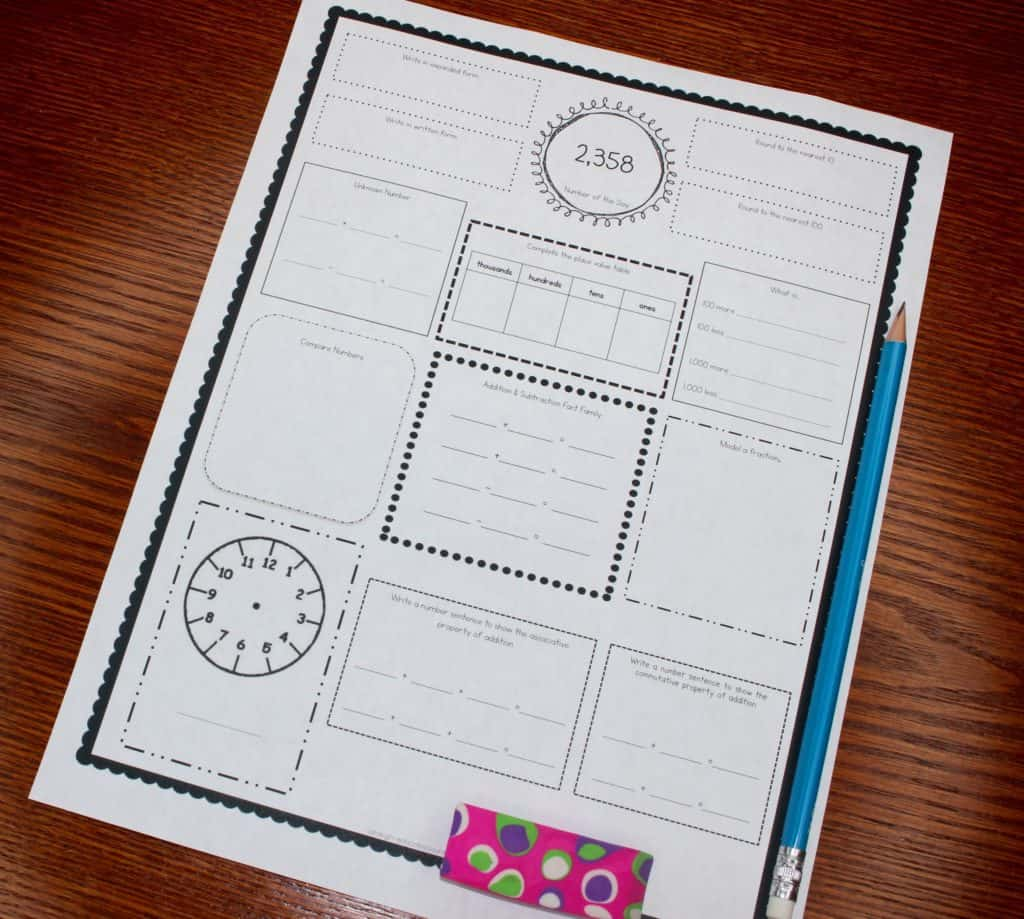 Differentiated Morning Work - Ashleigh\'s Education Journey