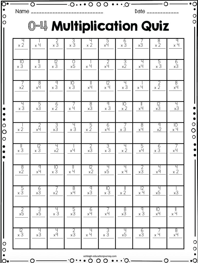 multiplication facts quiz 12 multiplication timed tests the curriculum corner 123printable. Black Bedroom Furniture Sets. Home Design Ideas