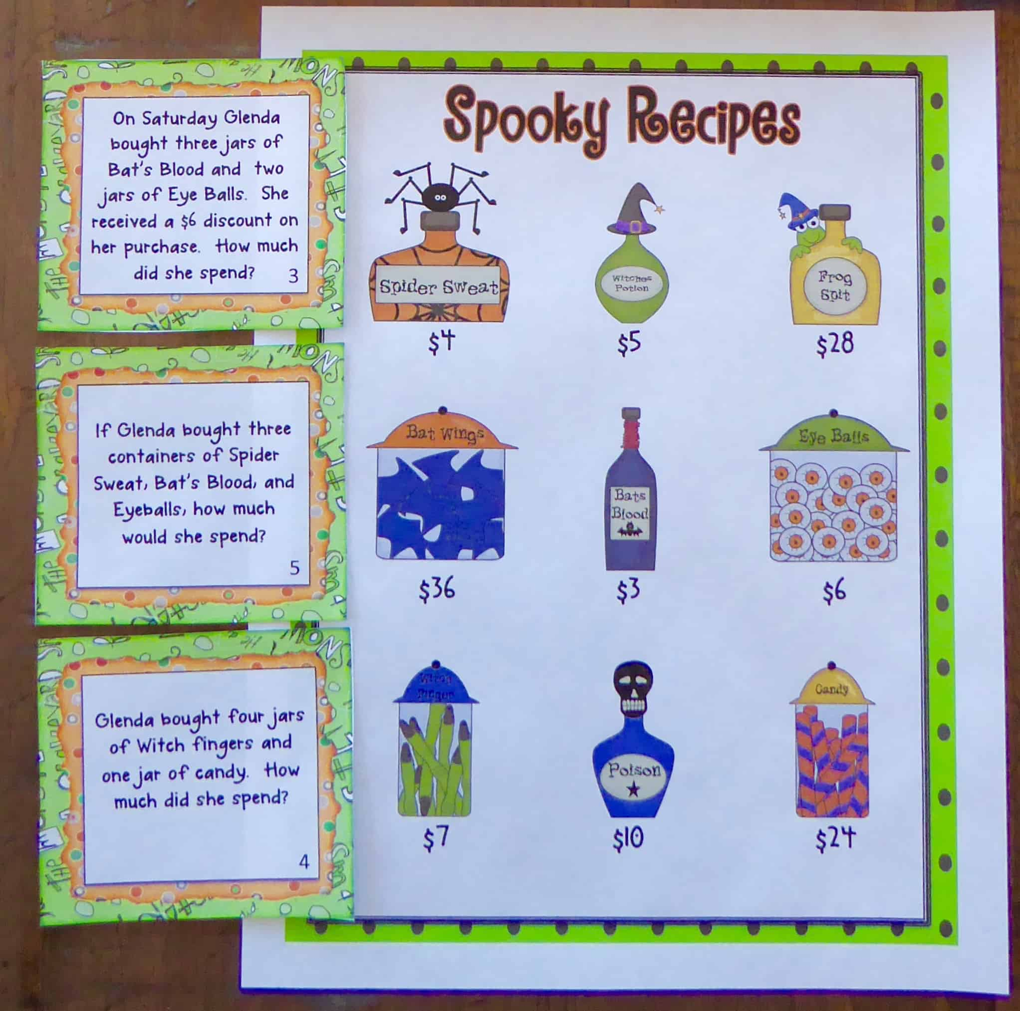 halloween two step word problems - ashleigh's education journey