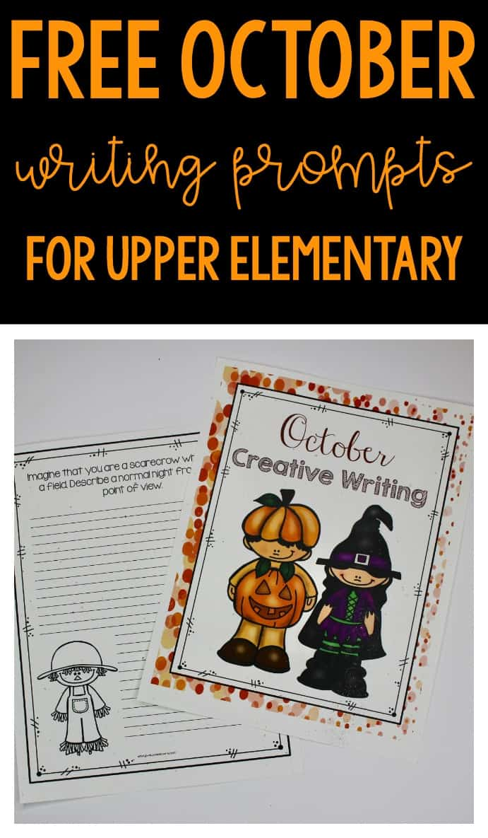 FREE October creative writing prompts
