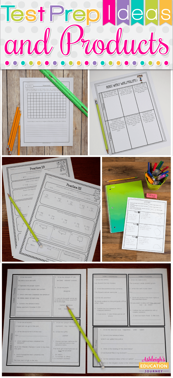 Teachers and students alike feel the pressure of preparing for state standardized testing. No matter your opinions about it, it's a reality for teachers everywhere, and it's important to find a test prep method that works for you and your students. This blog post explores a variety of different test prep ideas and products you can use that might make test prep smoother in your 3rd grade, 4th grade, or 5th grade classroom!