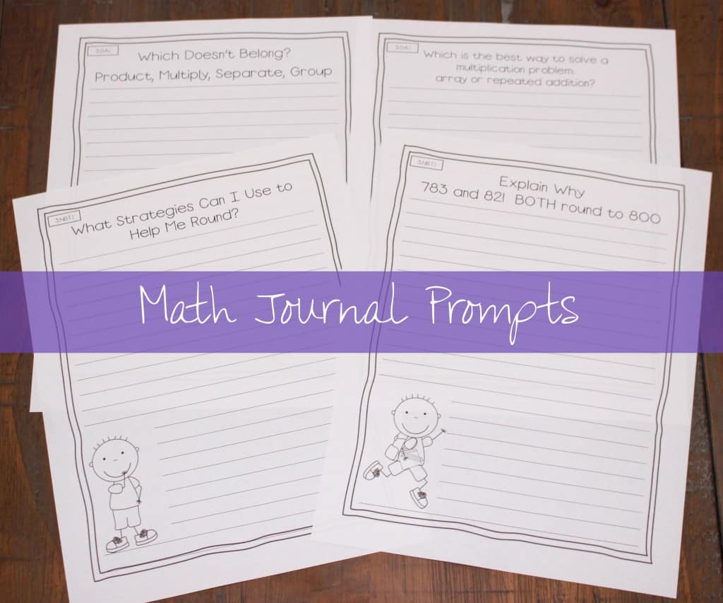 math journal prompts