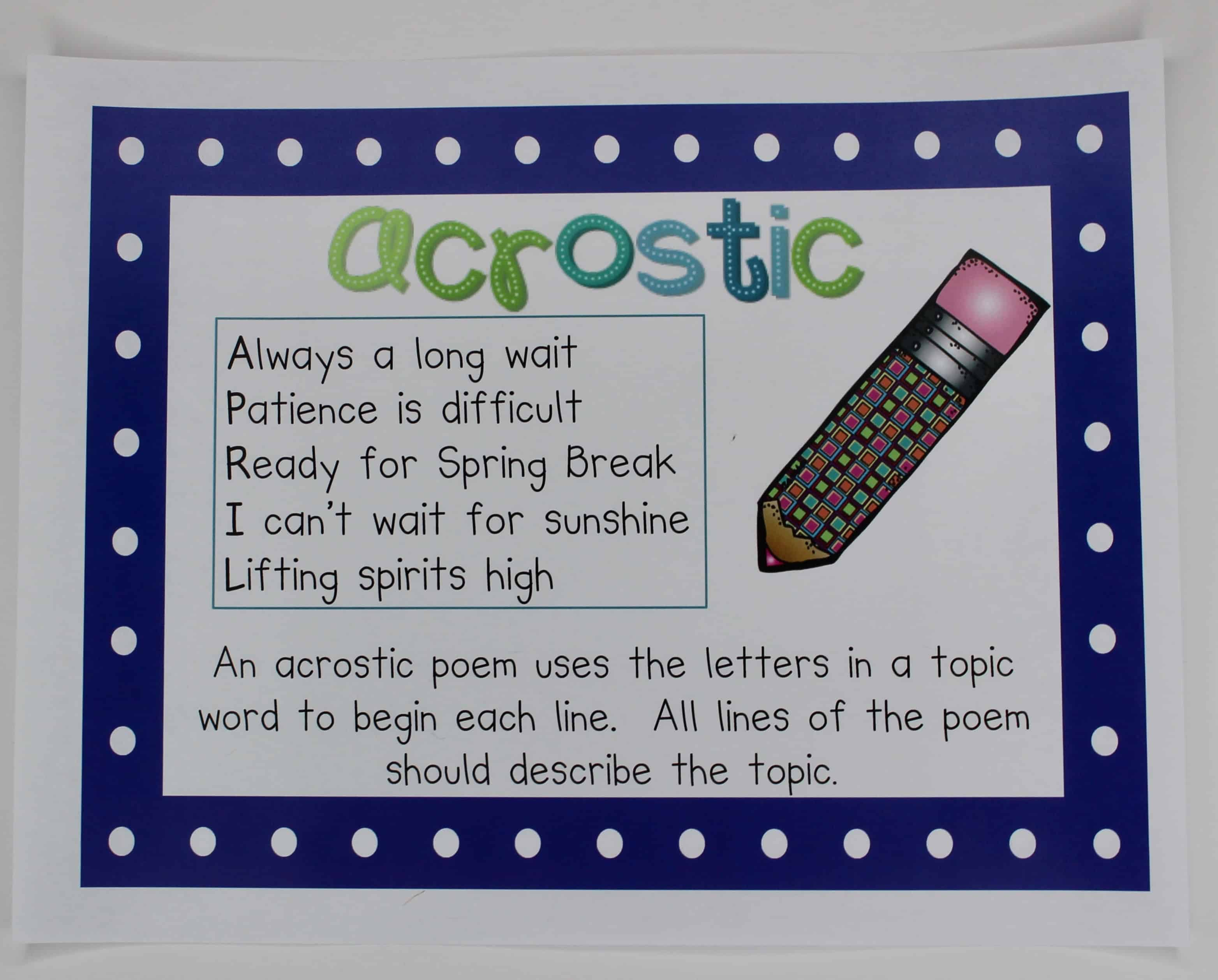 Want to teach your students to have an appreciation for poetry? This blog post details how to teach students to write and love poetry -- and to read it, too! I'm sharing some of my favorite activities that I use in my own upper elementary classroom for teaching poetry. Click through to read my tips and suggestions!
