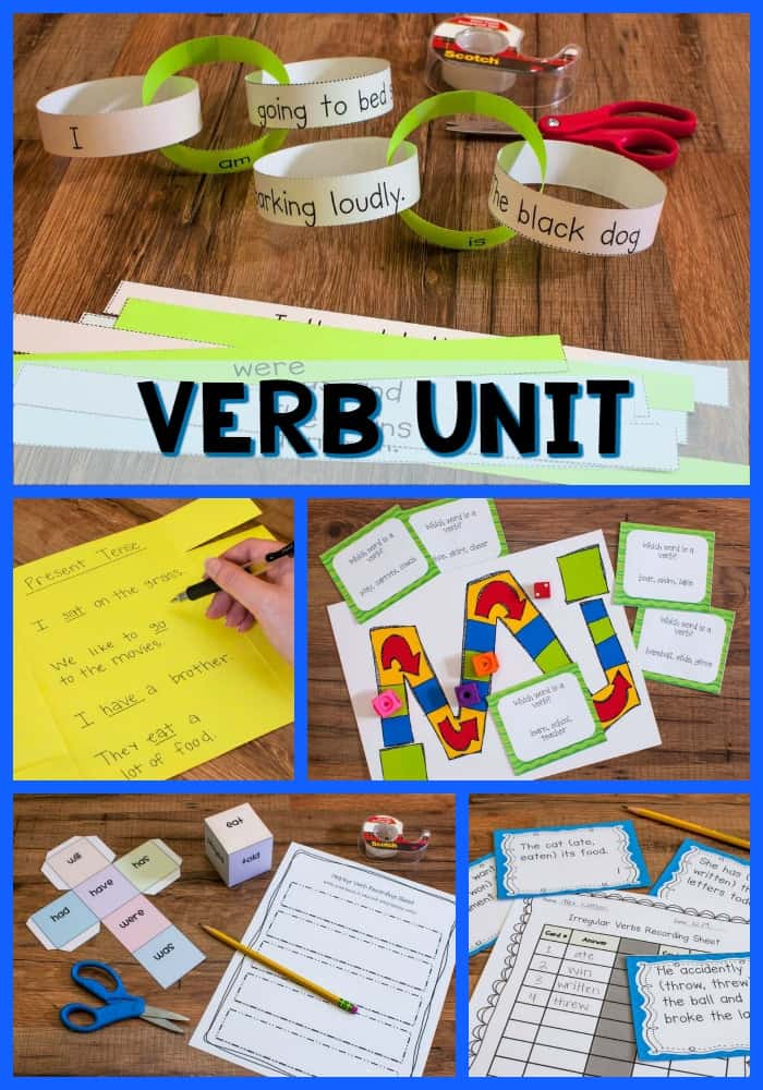 Let's face it: It's HARD to teach grammar! Grammar is hard for kids to master, and it's usually pretty boring, which makes it hard to learn and hard to teach. We have to teach it, though, so I did my best to create engaging grammar units for my upper elementary students. This blog post shares all about the verb unit I created, so click through to read more!