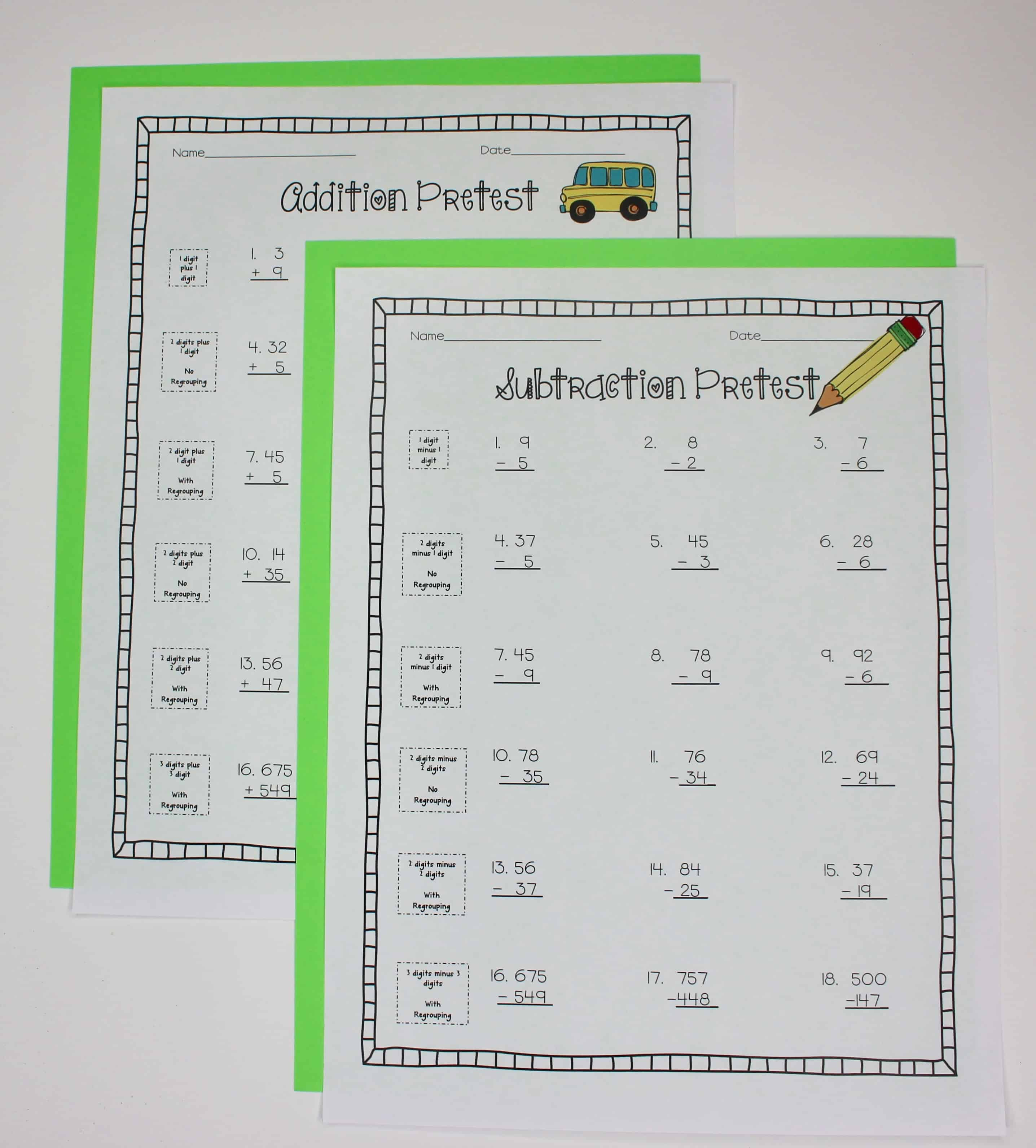 Spending time teaching addition and subtraction in 3rd grade or other upper elementary grades is important, but sometimes we can find ourselves spending too much time on it. This blog post explains how I use my addition and subtraction unit to make sure students have a conceptual understanding before we move on to other math concepts. Click through to read the post!