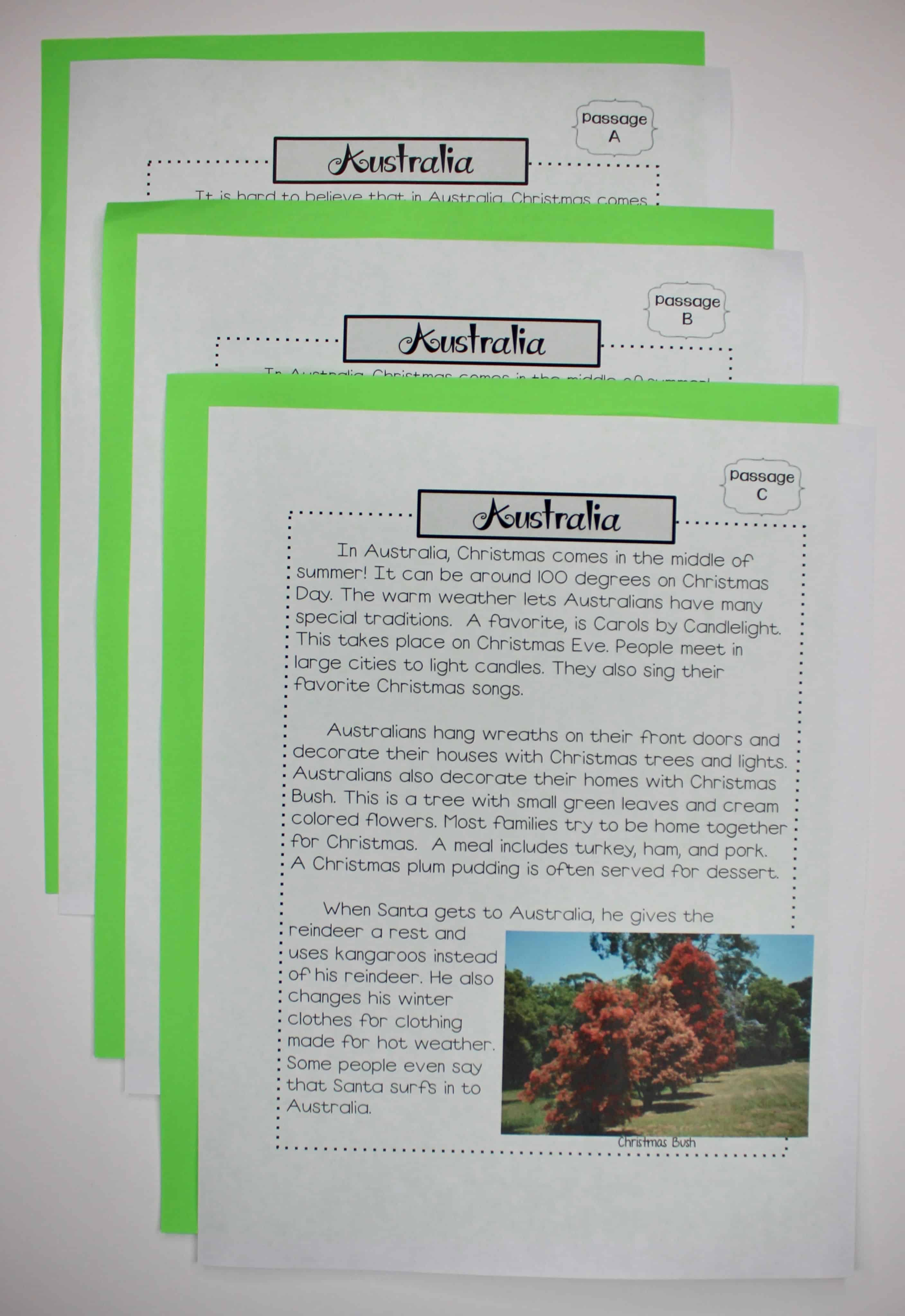 Since This Includes Leveled Passages It Can Easily Be Used With Third Fourth Or Fifth Grade Each Reading Passage Also Some Type Of Nonfiction