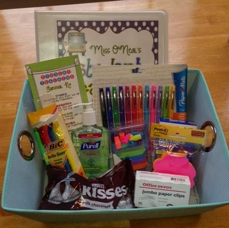 student teacher welcome basket