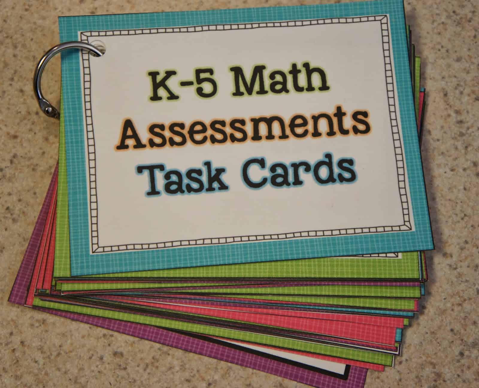 math assessment task cards