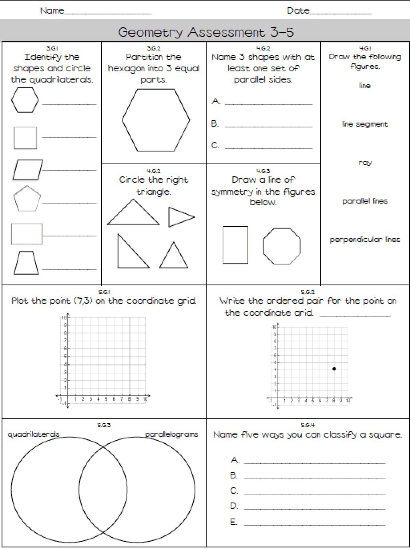 geometry assessment 3-5