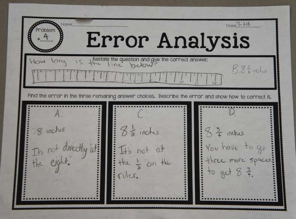 error analysis graphic organizer