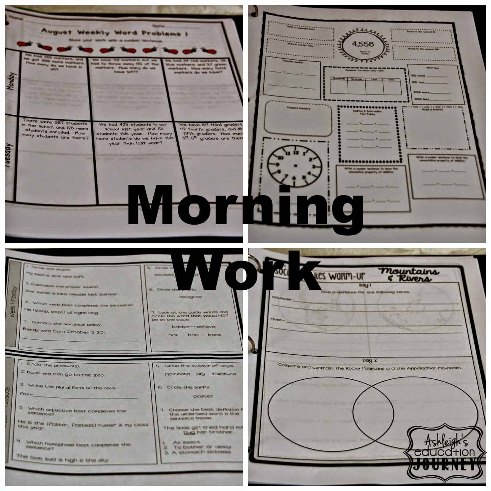 planning ahead morning work