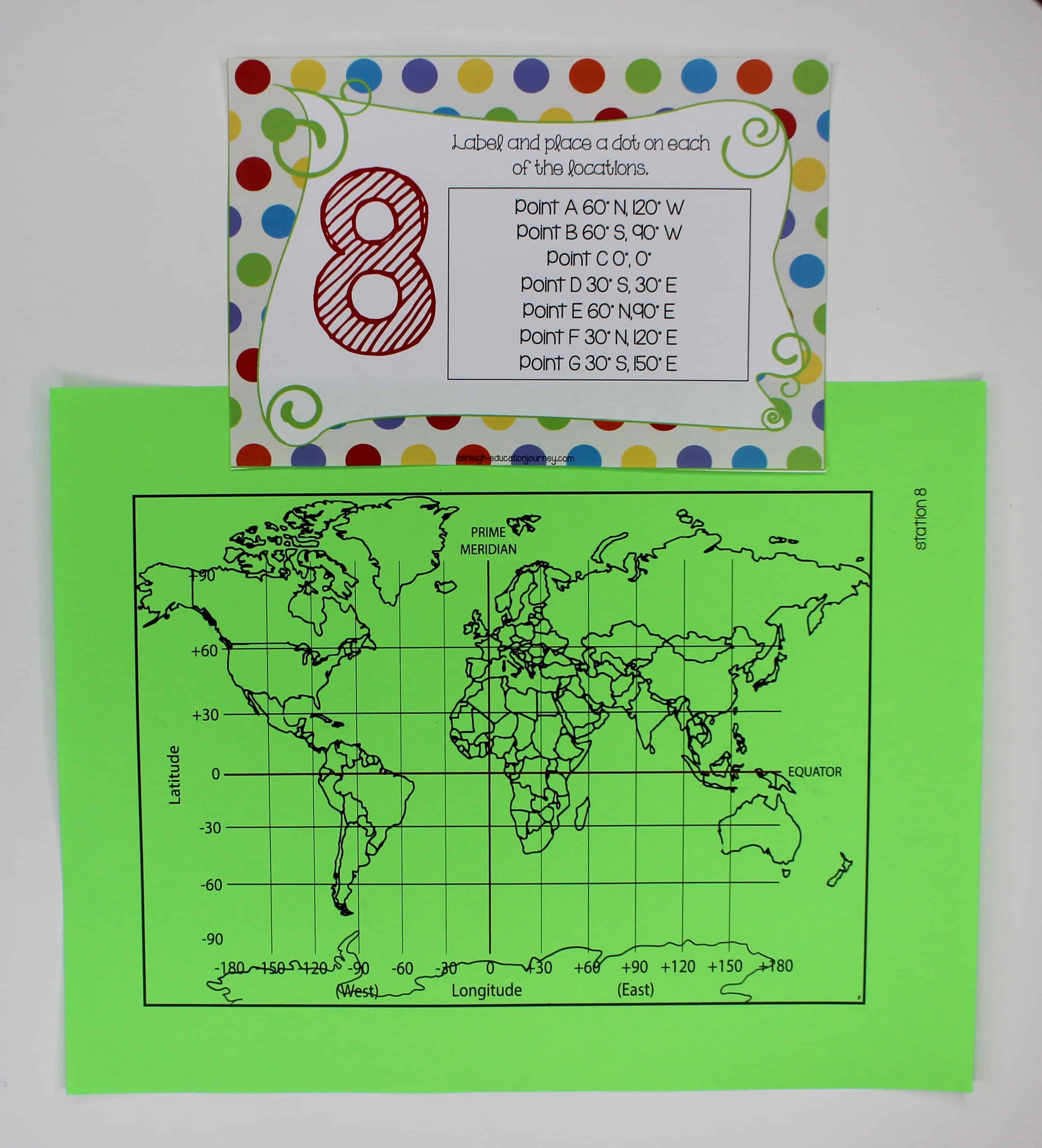 Centers make a fun addition to any subject area in elementary school, but these geography stations make a super engaging activity to add to your social studies curriculum! I shared how you can use these geography centers in your 3rd grade, 4th grade, or 4th grade classroom in this blog post. The topics include landforms, latitude and longitude, countries around the world, and more. Click through to read the post now!