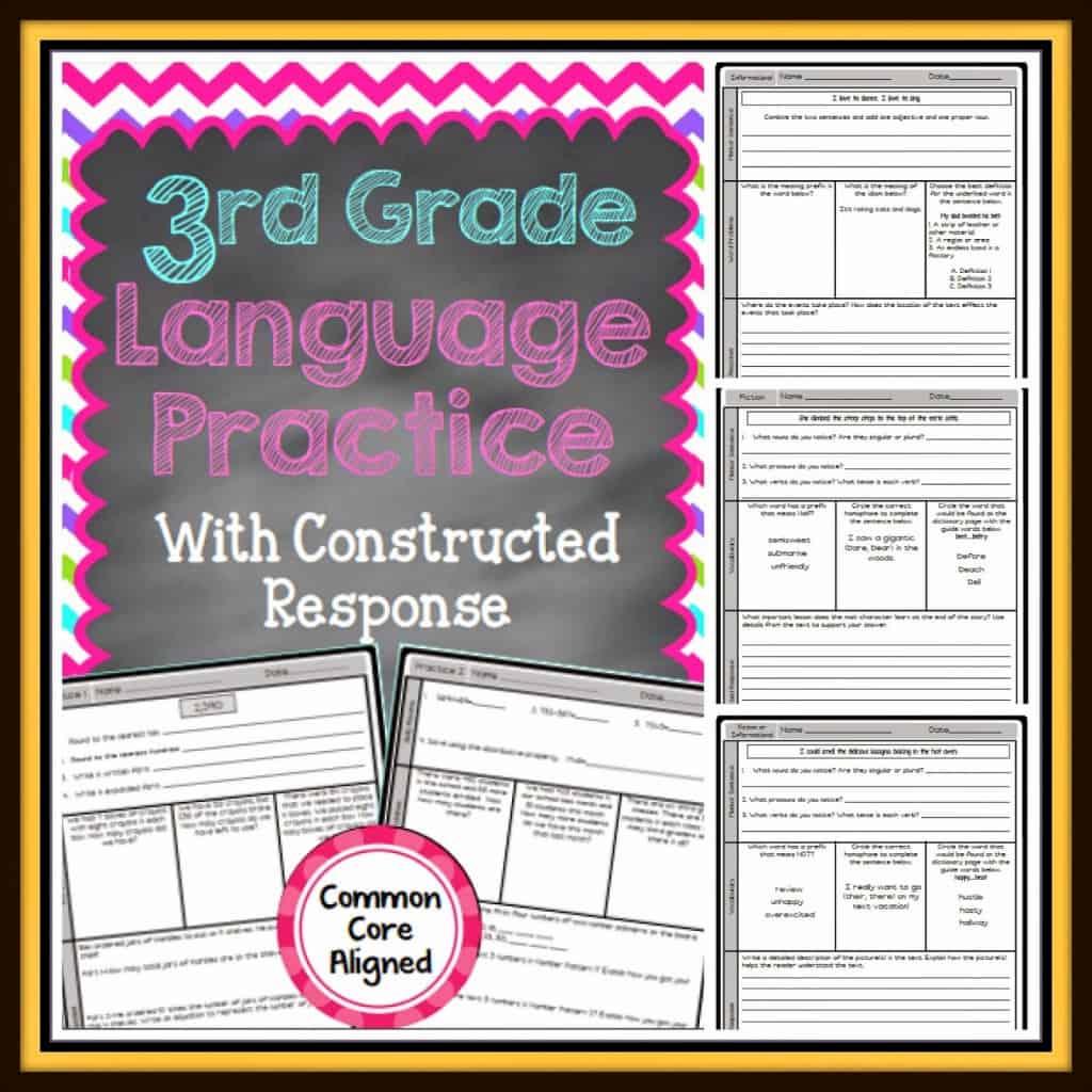 third grade language arts practice
