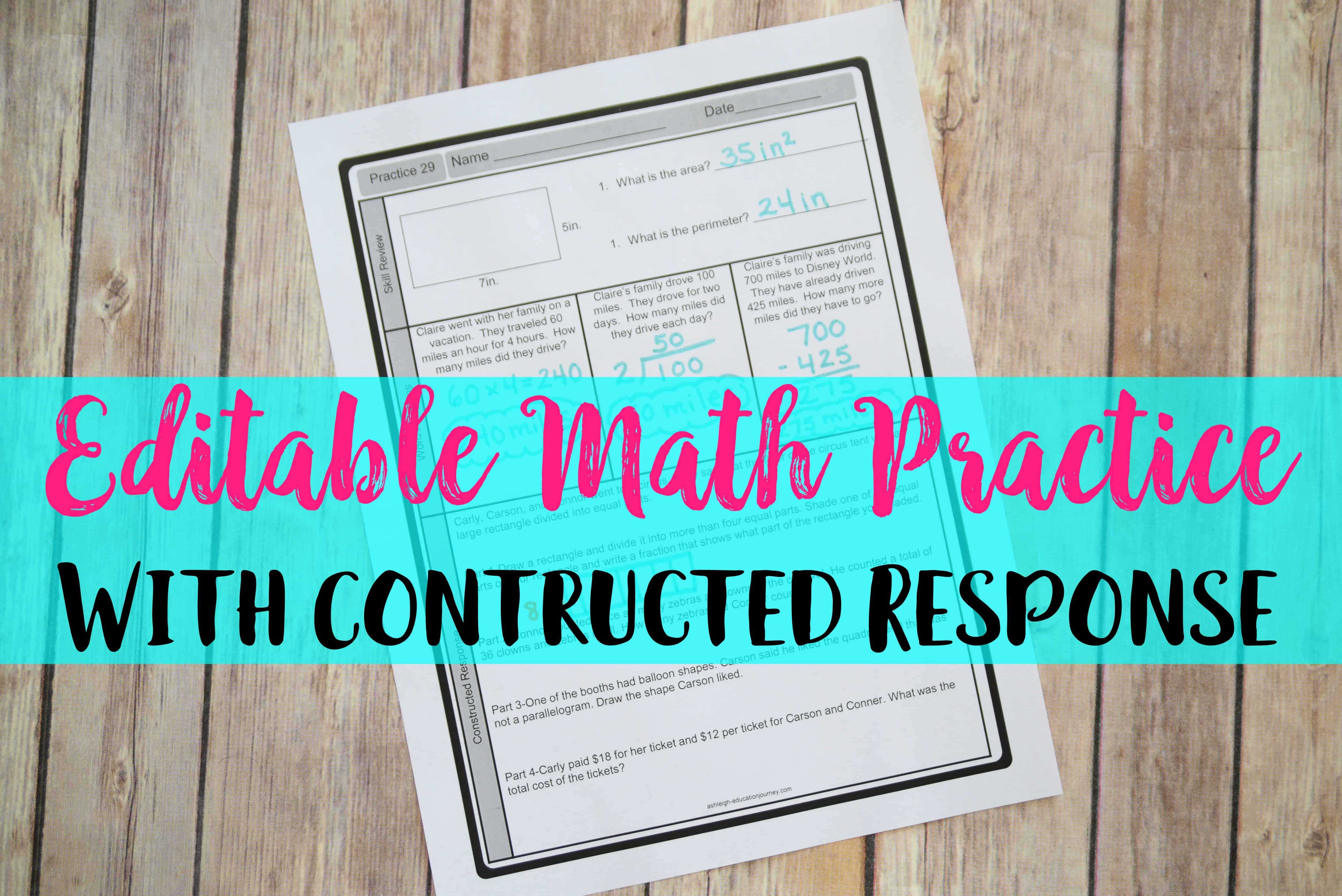 Math Practice - Ashleigh\'s Education Journey