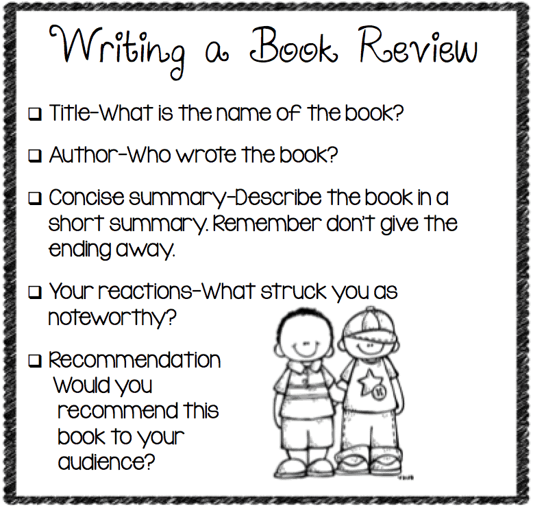 Write a 4th Grade Book Report