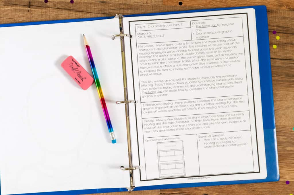 Reading Workshop Lesson Plan