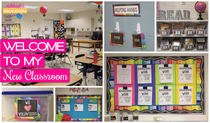 Welcome to my new classroom - Back to school classroom collage