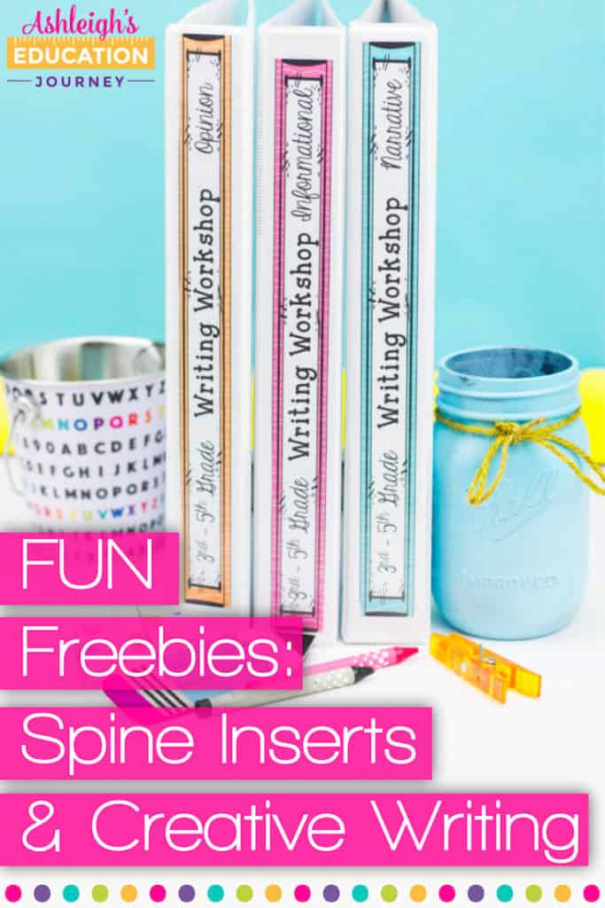 fun freebies spine inserts and creative writing ashleigh s