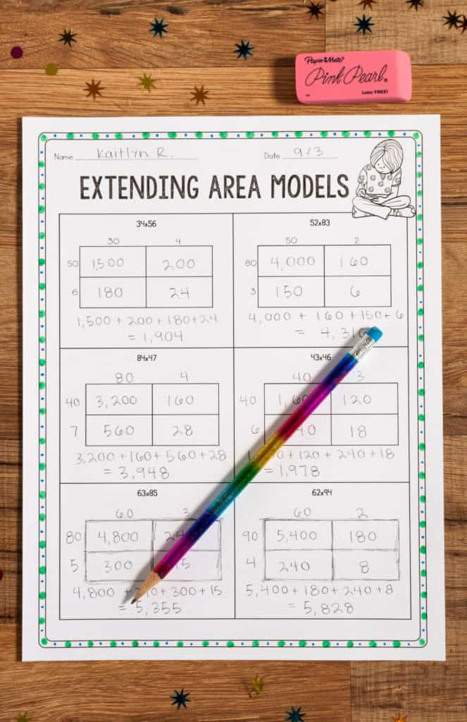 area model in multiplication
