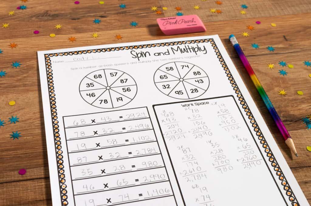 Multiplication game 2-digit by 2-digit