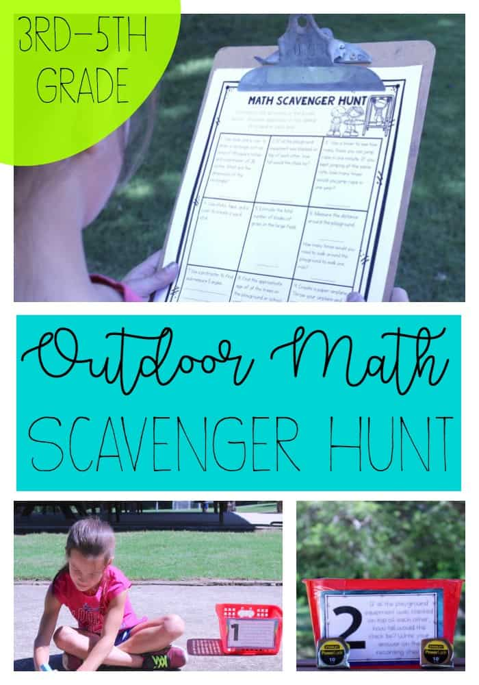 It's harder than ever at the end of the school year to keep kids engaged. Check out this outdoor scavenger hunt that incorporates multiple learning styles!