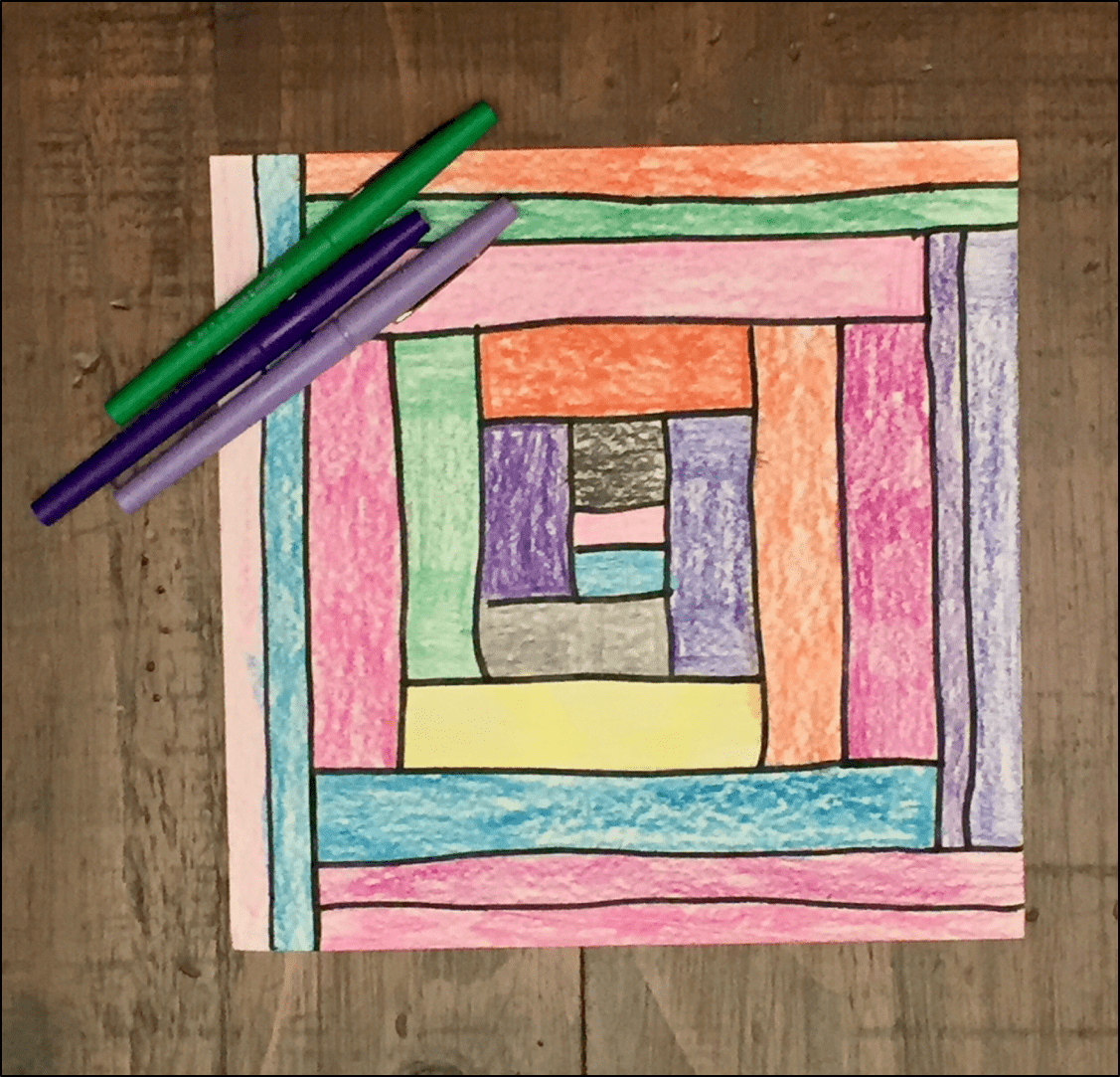 Combine art and math with this line art activity
