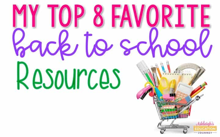 My top 8 favorite back to school resources header