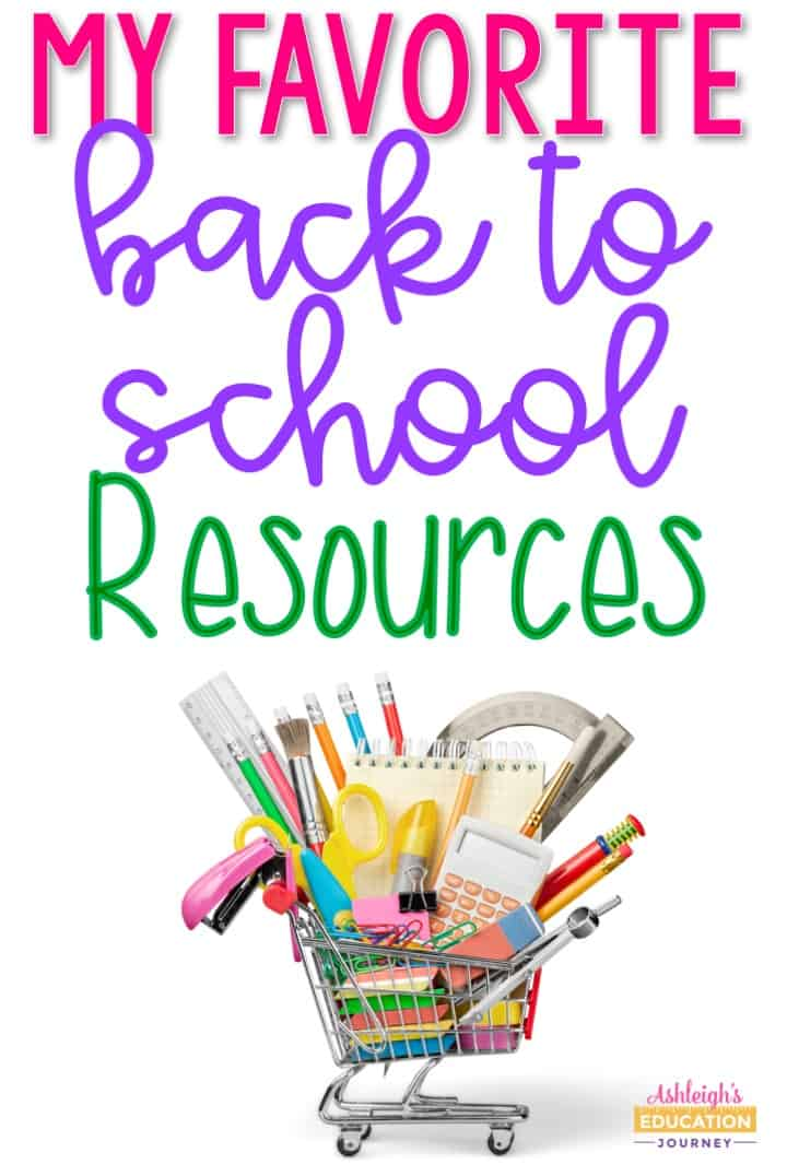 My favorite back to school resources