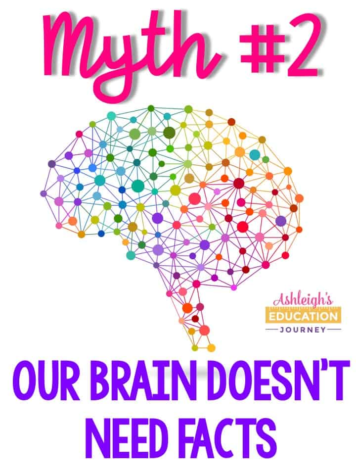 Brain myth 2 - Our brain doesn't need facts