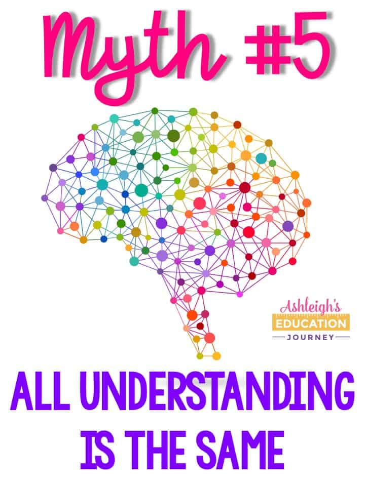 Brain research myth 5 - All understanding is the same