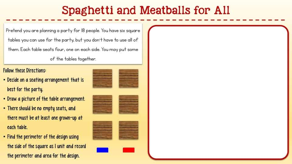 Spaghetti and Meatballs for All worksheet for digital learning