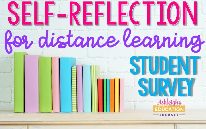 Distance Learning Self-Reflection Student Survey Header
