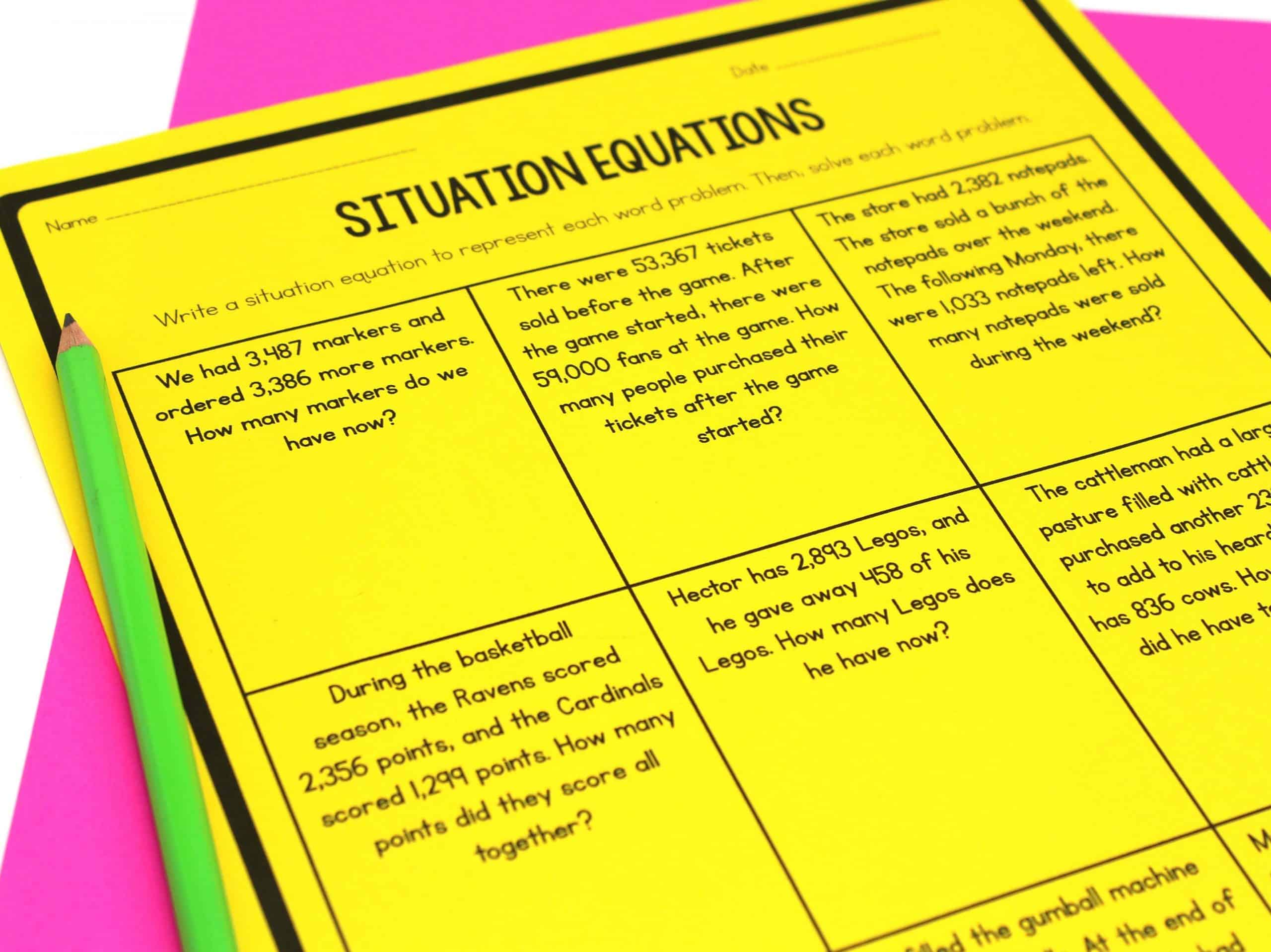 Addition Subtraction Multiplication And Division Word Problems Ashleigh S Education Journey
