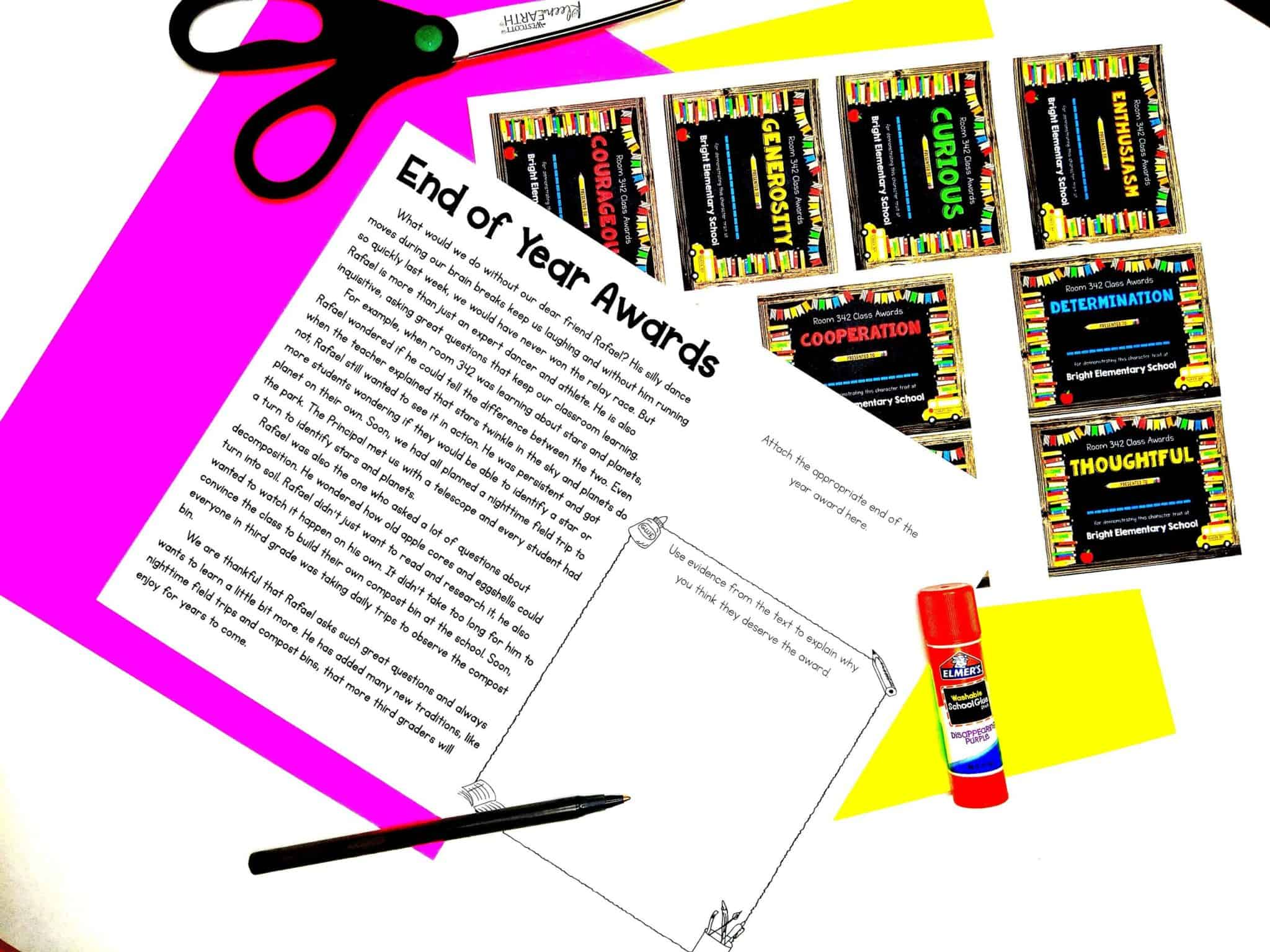 End of Year Awards Activity Sheets 1