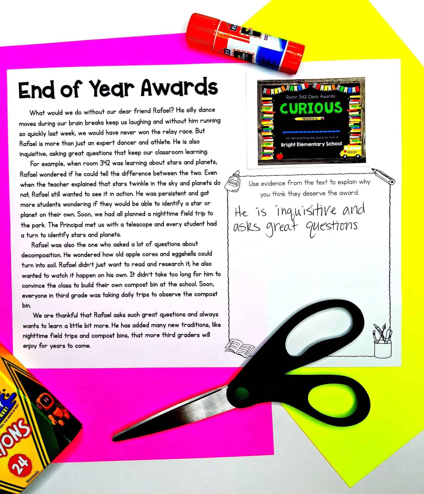 End of Year Awards Activity Sheets 2