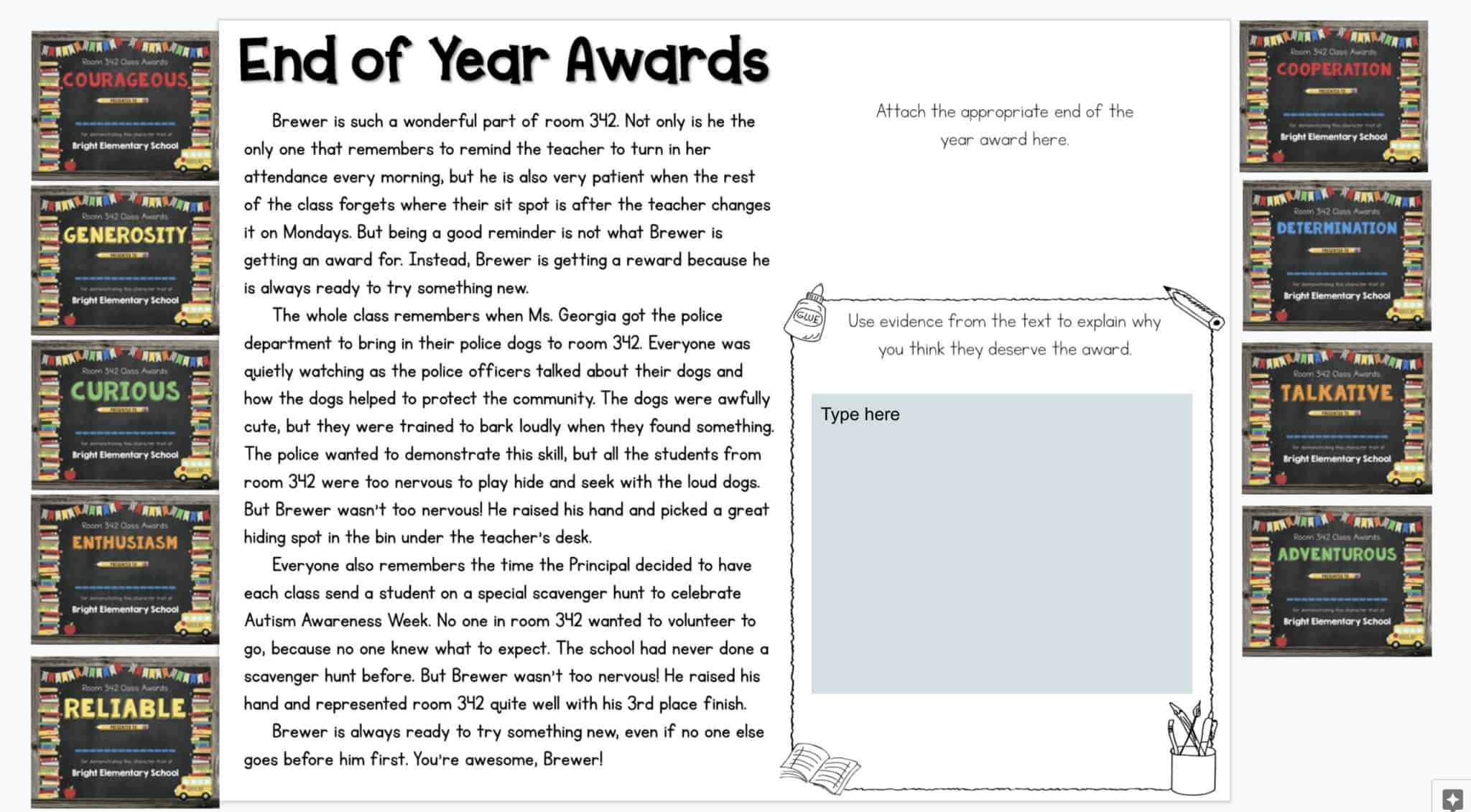 End of Year Awards Activity Sheets 4