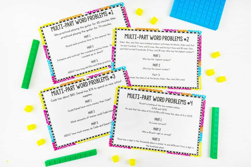 Multi-Part Word Problems Sheets